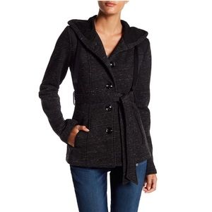 Sebby Marled Fleece Hooded Jacket